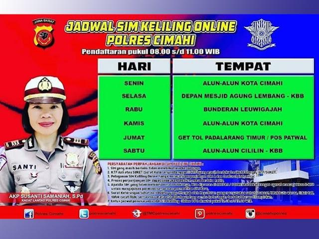 Jadwal SIM Keliling Online Polres Cimahi