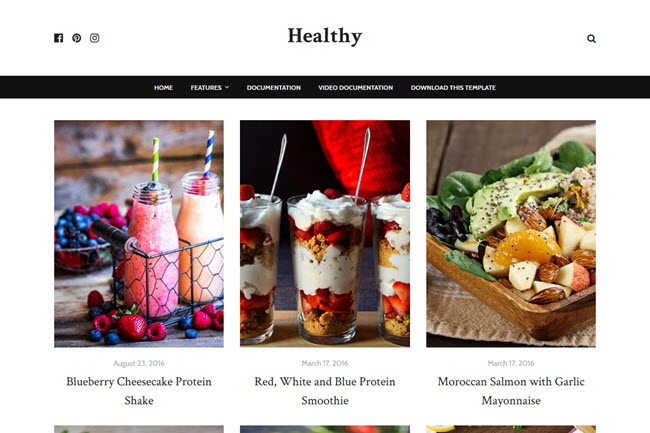 Healthy Blogger Template Premium Free Download