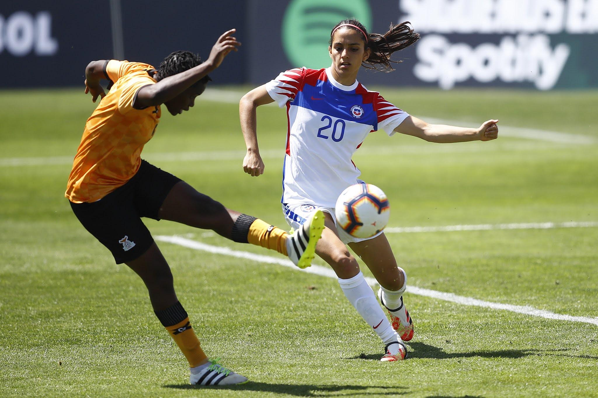 Chile y Zambia en partido amistoso femenino, 28 de noviembre de 2020