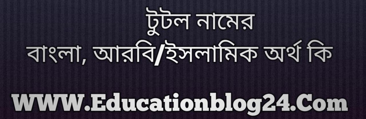 Tutul name meaning in Bengali, টুটুল নামের অর্থ কি, টুটুল নামের বাংলা অর্থ কি, টুটুল নামের ইসলামিক অর্থ কি, টুটুল কি ইসলামিক /আরবি নাম