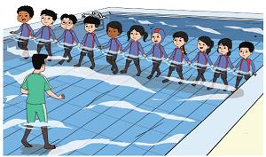 latihan berjalan di dalam air www.jokowidodo-marufamin.com