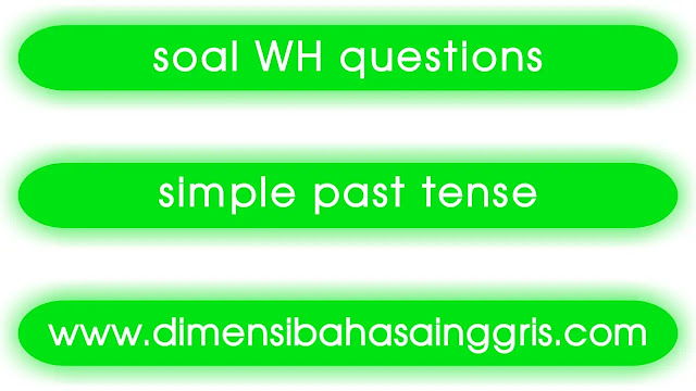 DBI - Soal Simple Past Tense WH Questions