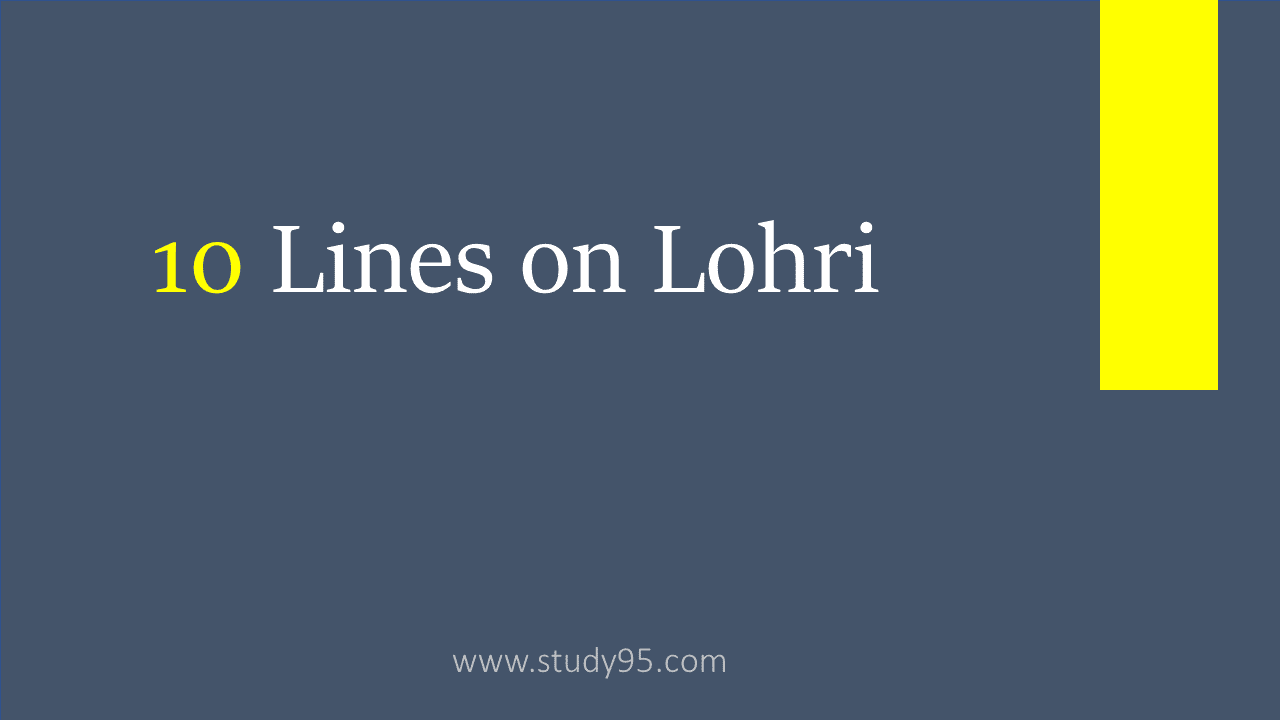 10 Lines on Lohri