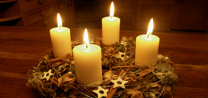 wheelchaired bursts advent candle. Black Bedroom Furniture Sets. Home Design Ideas