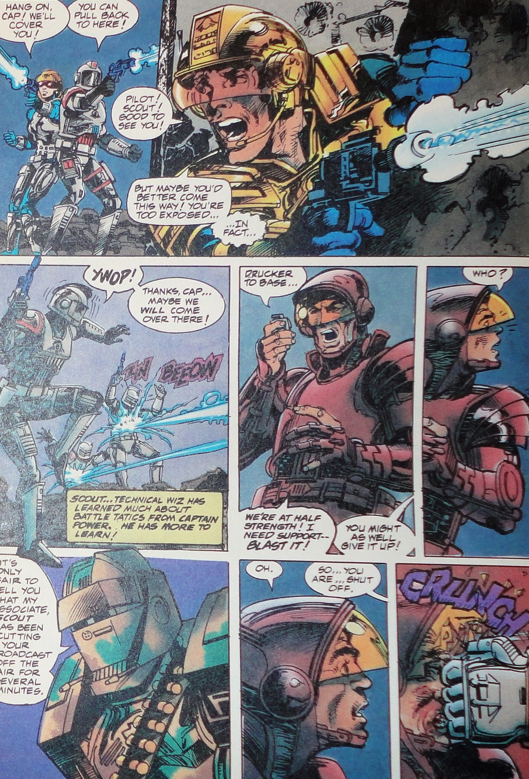 comics power captain future christmas soldiers continuity cheer whatever gods there 1988 august