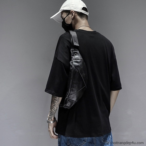 Túi bao tử đeo chéo da nam thời trang BAM017