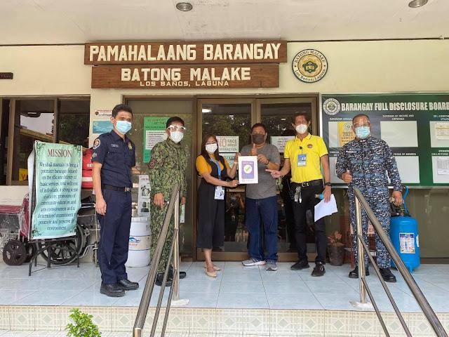 Barangays in Los Baños receive Safety Seal Certification