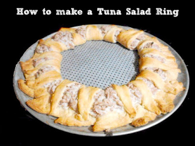 Make a Ring or Wreath with this Tuna Salad Recipe.