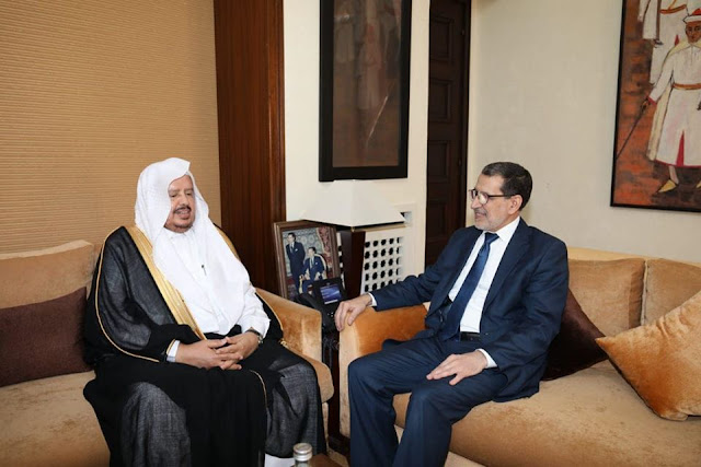 بالصور..العثماني يستقبل رئيس مجلس الشورى السعودي بالرباط