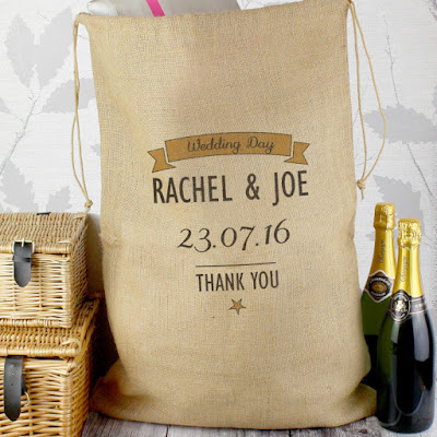 Personalised Wedding Gift Parcel Hessian Sack