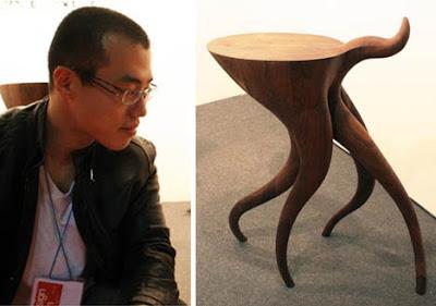 Diseño de mesa de madera muy organico