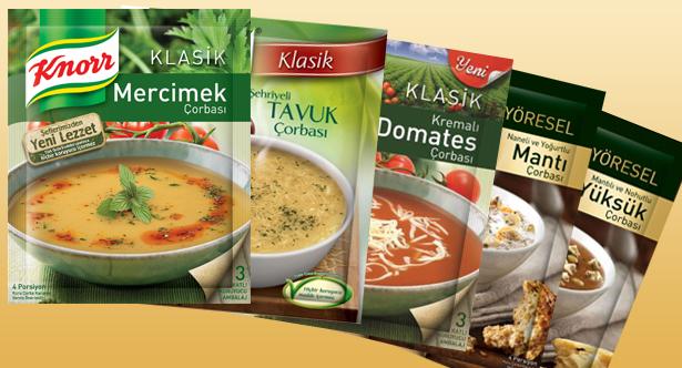 Knor Hazır Çorba Çeşitleri