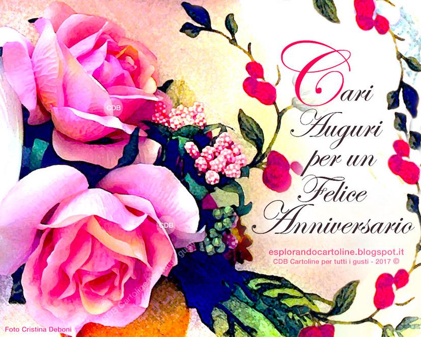 Auguri Di Anniversario Di Matrimonio Per Amici.Cdb Cartoline Per Tutti I Gusti Cartolina Cari Auguri Per Un