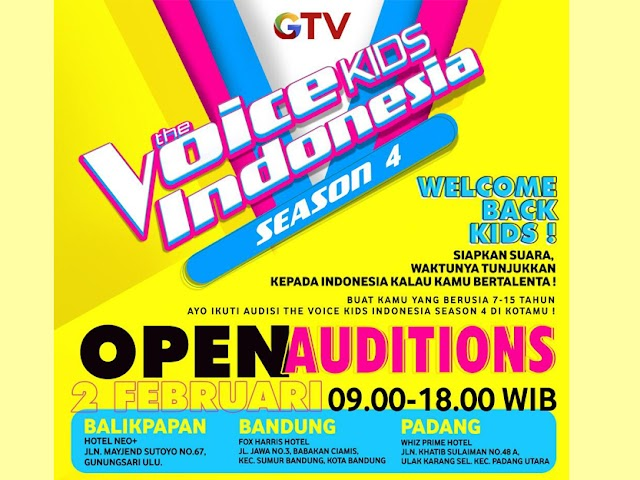 Recruitment The Voice Kids Indonesia Season Ke-4 Dimulai!