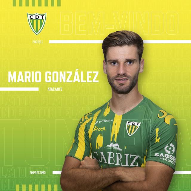 Mario González, con el Tondela