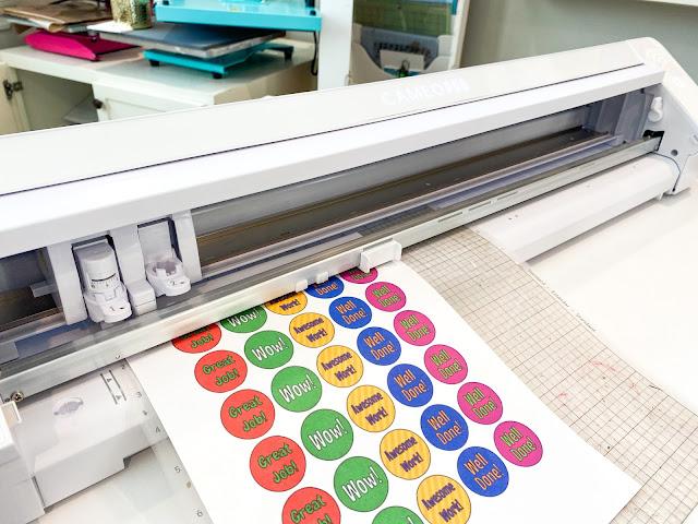 "CAMEO 4 pro, 24"" silhouette pro, print and cut, 24"" cameo pro, sticker paper"
