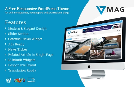 VMag – Responsive WP Theme Free