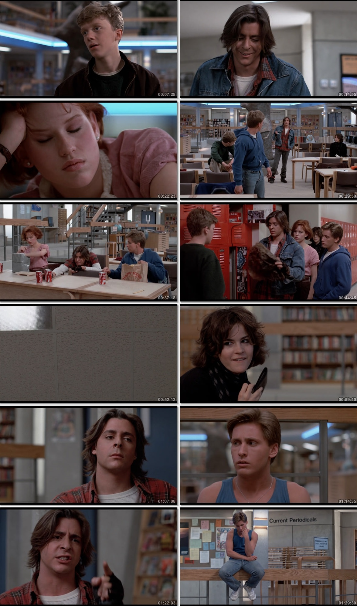 Screen Shot Of The Breakfast Club 1985 300MB Full Movie Hindi Dubbed Free Download 720P BRRip HEVC