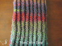 Modified reversible knit ribbing pattern