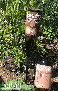 art, crafting, decorating, DIY, diy decorating, garden art, garden, just for fun, junk makeover, outdoors, painting, re-purposing, summer, tiki style, up-cycling, trash to treasure, painted tikis, tiki art
