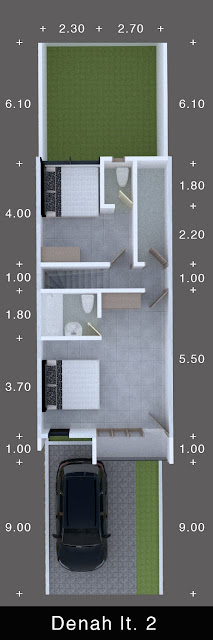 Floor Plan Lantai 2 Perumahan Signature Residence Jl. Karya Dalam Dekat RS Sufina Aziz dan BPJS Kesehatan Medan