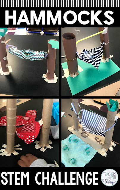 Here's another fantastic real-life STEM challenge featuring a Hammock! This one is just pure fun (and challenging!) Students must build a model of a hammock. There are two versions of this challenge provided. Both are challenging and full of problem-solving! Check this blog post for more!