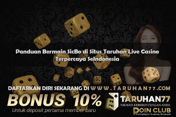 Taruhan77 Blog Panduan Bermain Sic Bo Di Situs Taruhan Live Casino Terpercaya Seindonesia