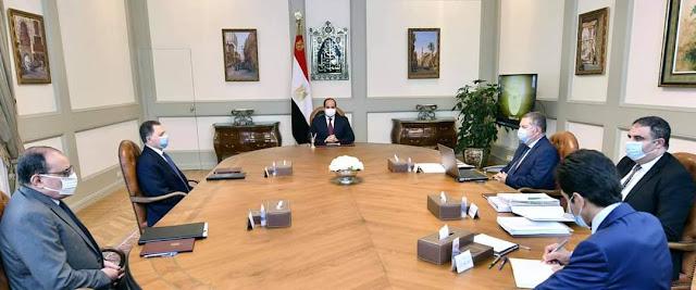 الرئيس السيسي  يوجه بترسيخ نهج الدولة بحسن إدارة ما تملكه من موارد وأراضي ومنشآت منتشرة على مستوى المحافظات كاستراتيجية ثابتة للدولة