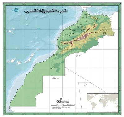 للتحميل: حدود الأحواض المائية الكبرى والصغرى بالمغرب بصيغة الشابفايل (shp.)