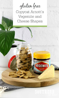 Copycat Gluten Free Arnott's Vegemite and Cheese Shapes Recipe