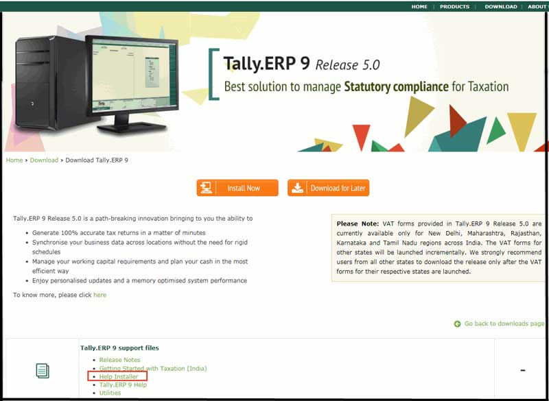 tally erp9 help