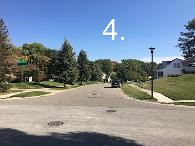"Photo of a street, with the caption ""4"""