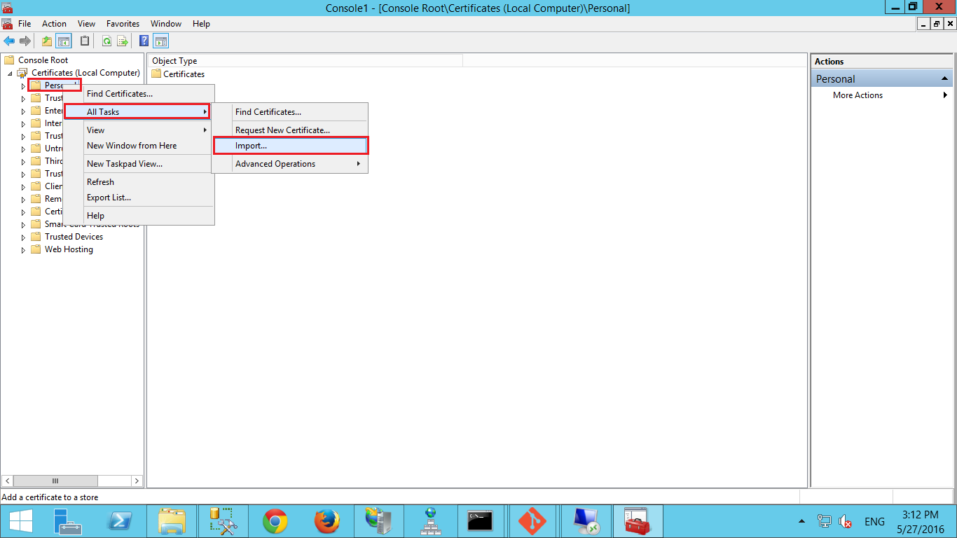 How to import pfx certificate file in iis server certificate import wizard will appear click next xflitez Images