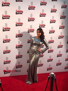 Bollywood Actress Huma Qureshi in Silver Glitter Dress at Empire Awards  0004.JPG