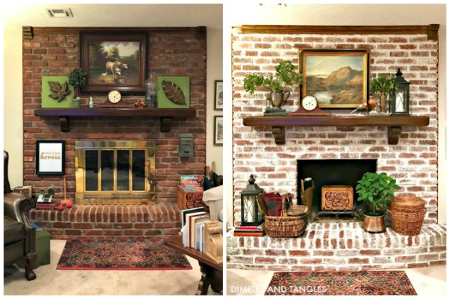 How To Mortar Wash Brick Fireplace My
