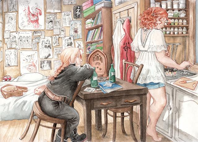 dessin à l'aquarelle : Edward Elric - Fanart FMA