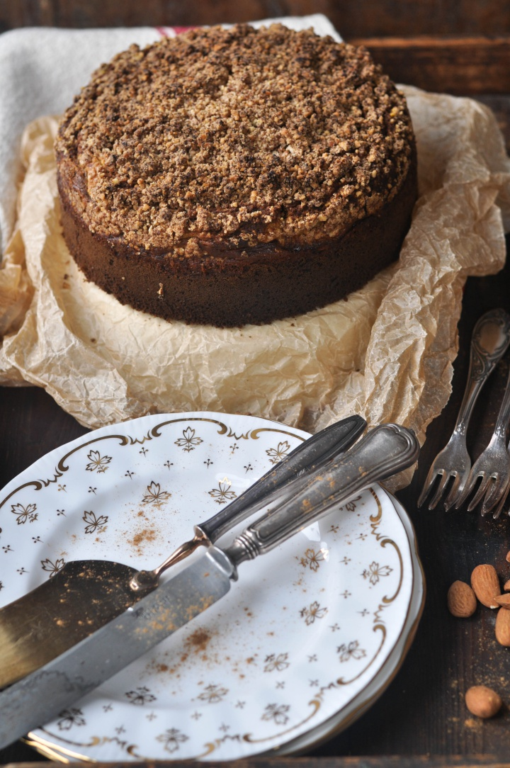 Pumpkin-Streusel-Cake with Cream Cheese filling, a gluten free alternative for Thanksgiving