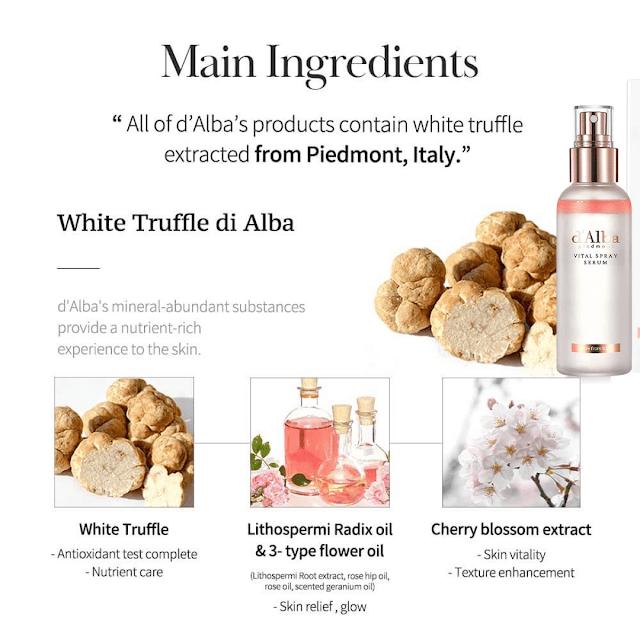 d'alba white truffle vital spray serum review by barbies beauty bits