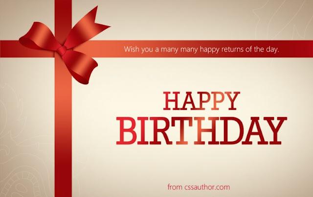 Birthday Greetings Card PSD