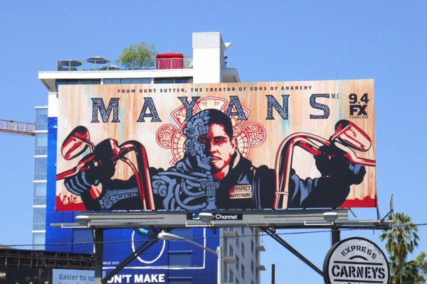 Mayans MC series premiere billboard