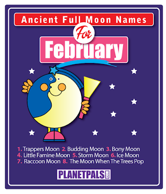 February ancient full moon names and fun facts
