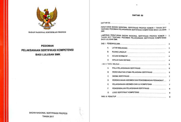 Pedoman Pelaksanaan Sertifikasi Kompetensi Bagi Lulusan SMK
