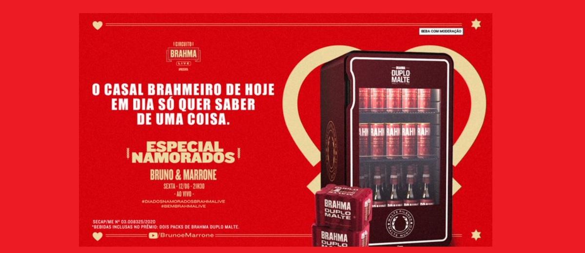 Promoção Bem Brahma Live Cervejeira Dia dos Namorados - #BeMBrahmaLive Cervejeira