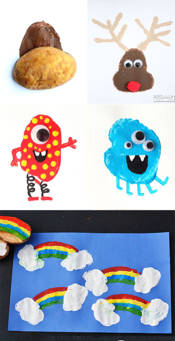 Homemade potato stamp crafts and activities for kids. #potatostamp #potatostampart #potatostamping #potatostampsforkids #potatostampchristmas #christmascrafts #christmasstamps #christmaspotatostamp #diystampsforkids #growingajeweledrose #activitiesforkids