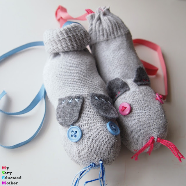 A great way to reuse your old socks! Create simple catnip filled cat toys!
