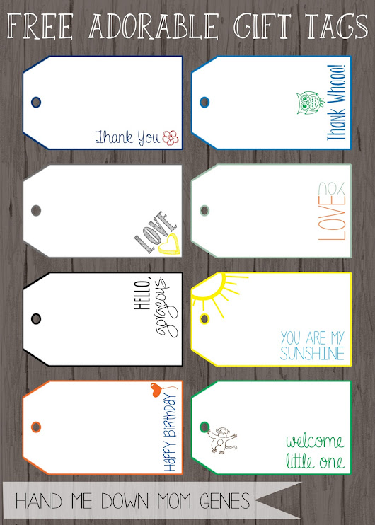 Free Adorable Gift Tags
