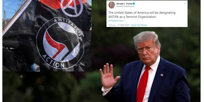 Ο Τραμπ υπέγραψε διάταγμα ώστε συμμορίτες Antifa να μην μπορούν να εισέλθουν στις ΗΠΑ