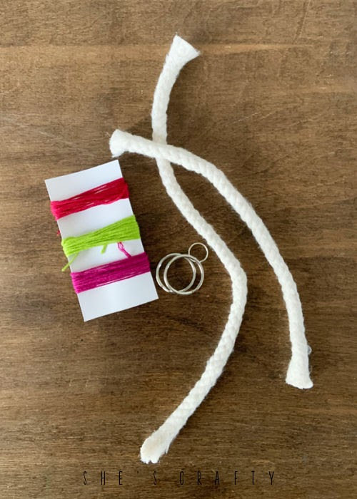 YW Camp Craft Kits - supplies to make floss wrapped keychains.