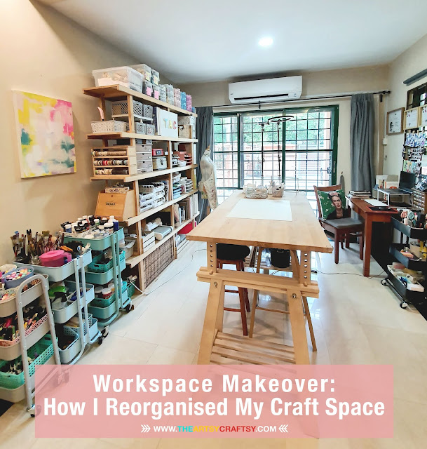 Workspace Makeover: How I Reorganised My Craft Space