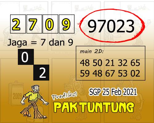 Syair SGP Kamis 25 Februari 2021 -